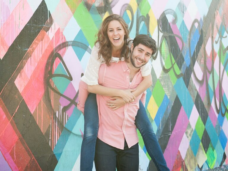 Stacy Tasman and her fiance pose for a photo
