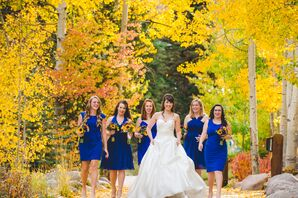 Royal Blue Personalized Bridesmaid Dresses