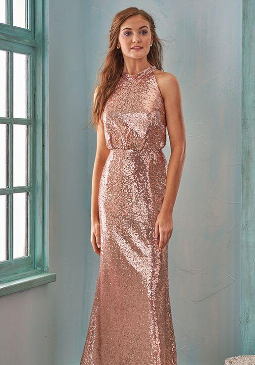 B2 Bridesmaids by Jasmine B203015 Halter Bridesmaid Dress