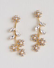 Dareth Colburn Elise Floral Drop Earrings (JE-4183) Wedding Earring photo