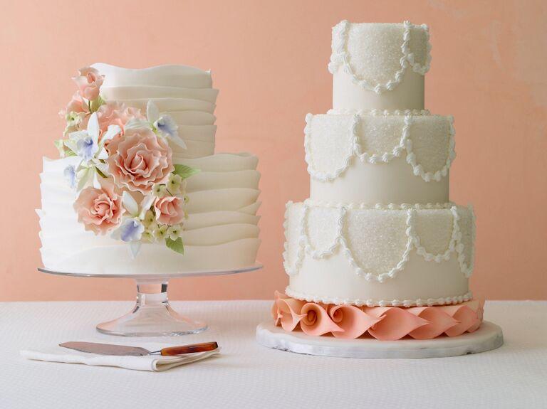 Modern romantic wedding cakes