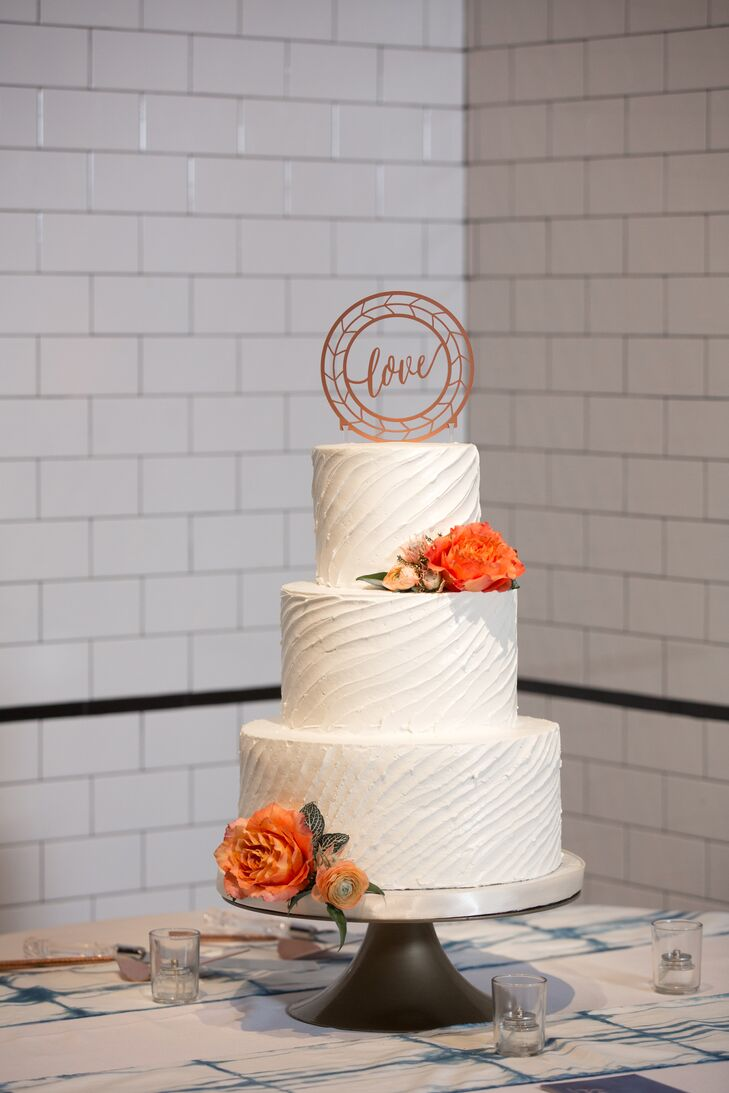 Wavy Buttercream Wedding Cake