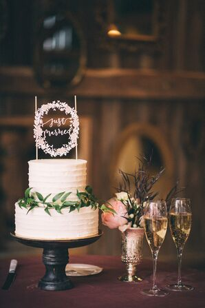 Two-Tier Cutting Cake with Laser-Cut Topper