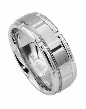 TRUE KNOTS TRUE MAN-502DCW Palladium, Platinum, White Gold Wedding Ring