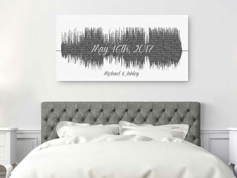 First.dance lyrics and soundwave printed on cotton canvas