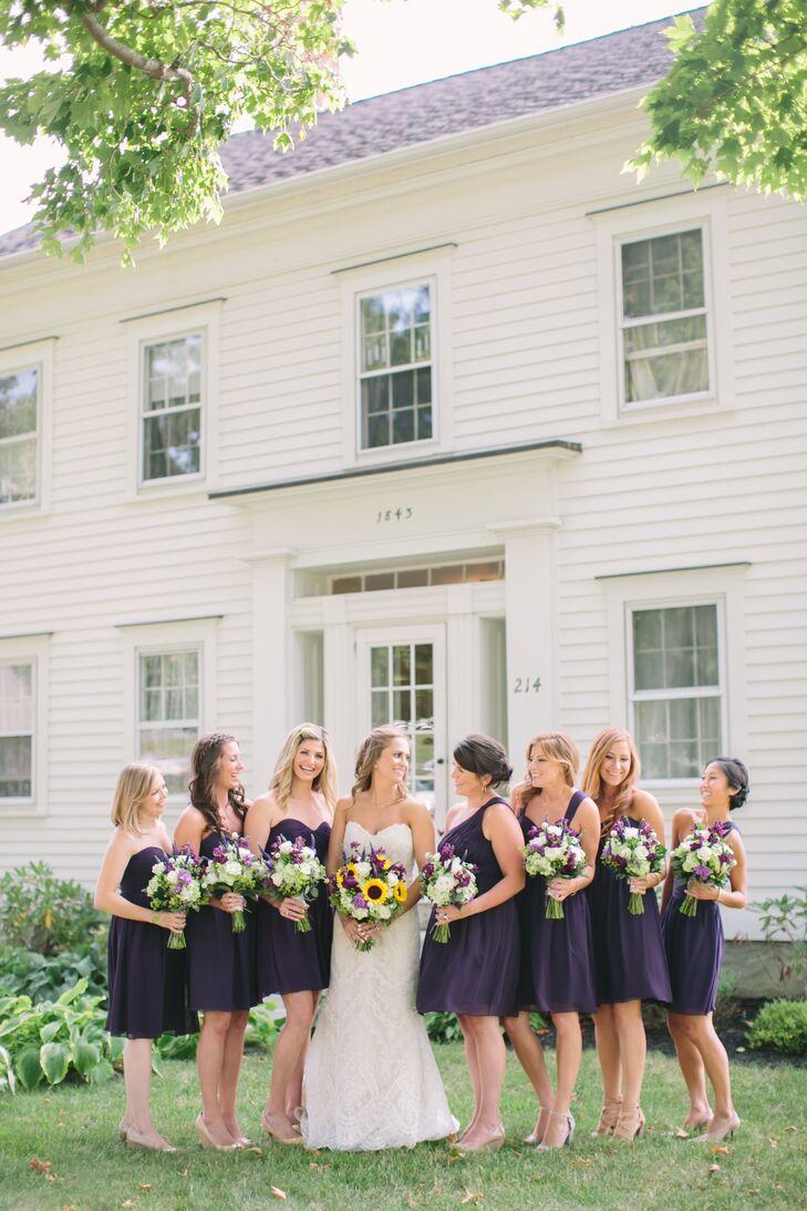 0411fbcba82b Short Dark-Purple Donna Morgan Bridesmaid Dresses