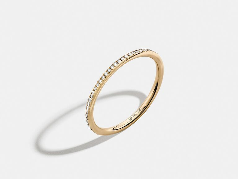 diamond gold stacking ring 7th anniversary gift