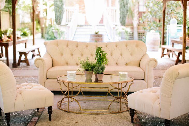 Ivory Tufted Furniture Lounge Vignette