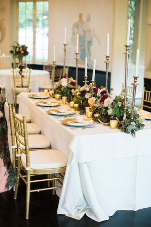 Southern-Inspired Tablescape With Floral Garland