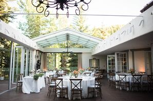 Mountain Chic Glass Terrace Reception