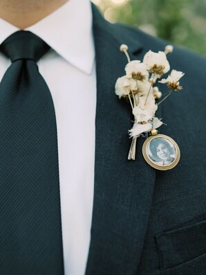 Boutonniere with Heirloom Photograph