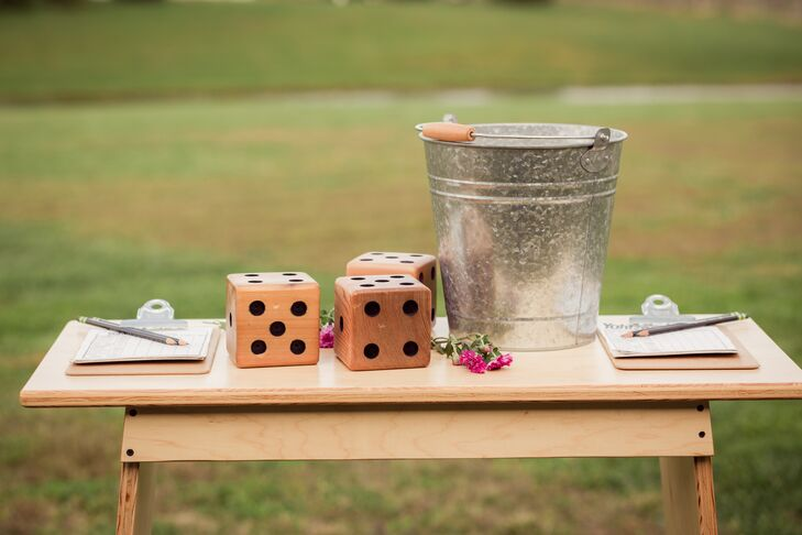 Rustic Dice Table Decorations
