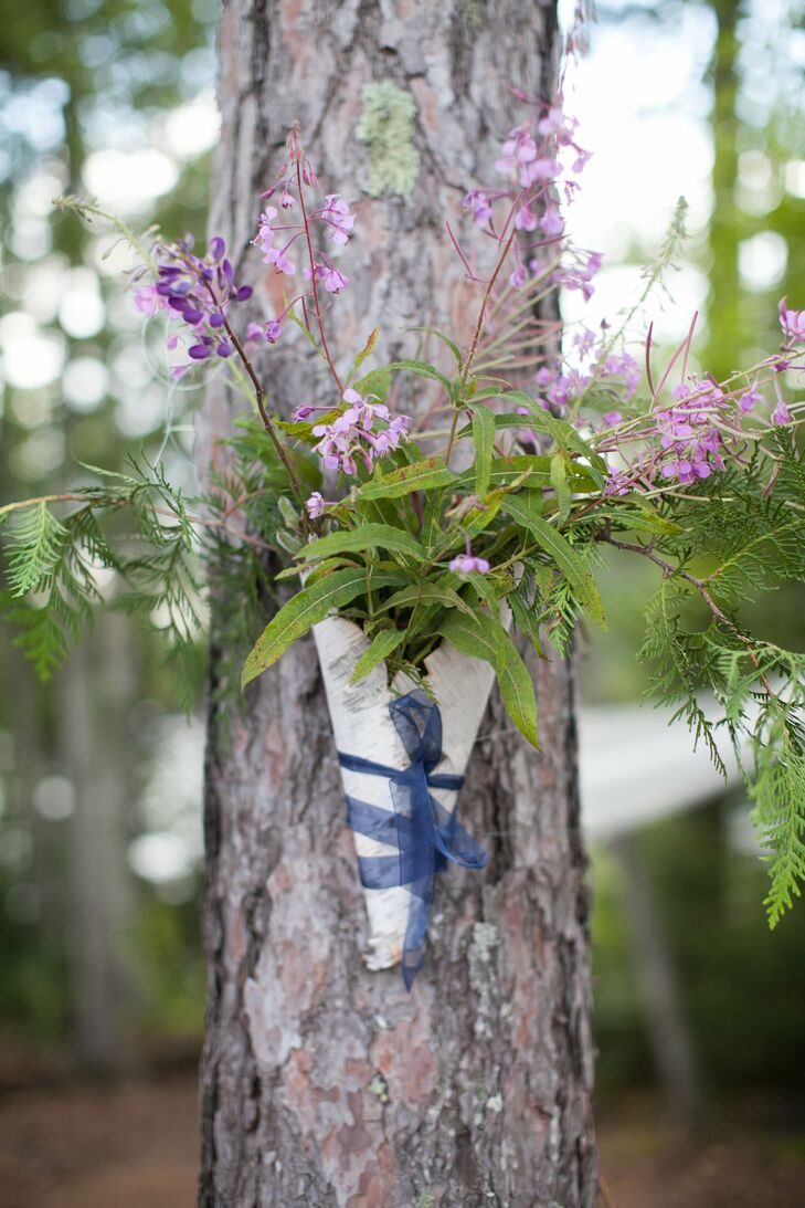 DIY Lavender and Green Tree Decorations