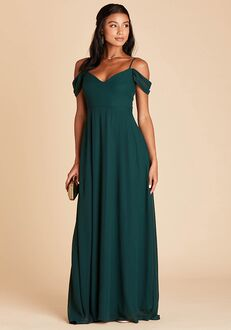 Birdy Grey Devin Convertible Dress in Emerald V-Neck Bridesmaid Dress