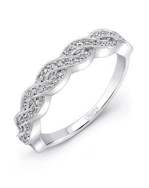 Uneek Fine Jewelry UWB024 White Gold Wedding Ring