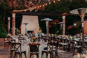Courtyard Reception at Scottsdale, Arizona, Wedding