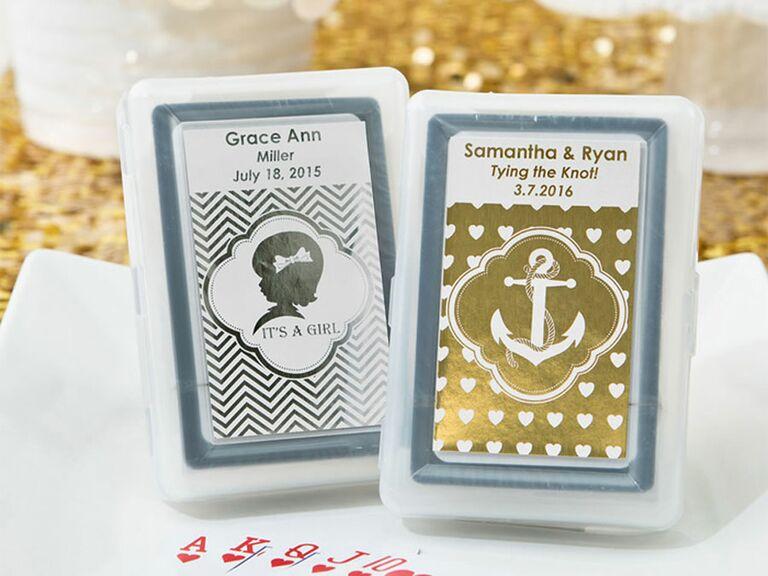 metallic playing cards