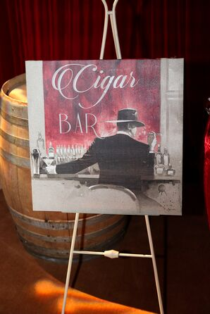 Vintage-Inspired Art Deco Sign for Cigar Bar