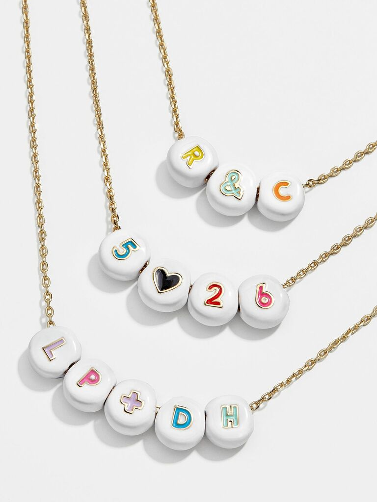 custom necklace with initials