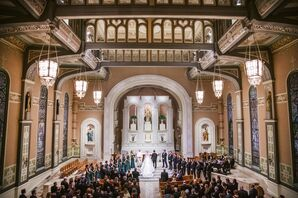 Catholic Ceremony at Old St. Patrick's Church in Chicago