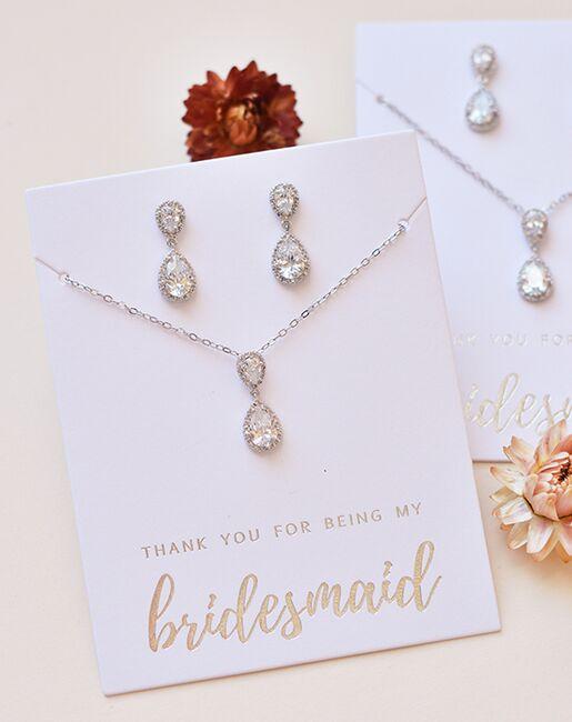 Dareth Colburn Georgia CZ Bridesmaid Jewelry Set (JS-1674-BR) Wedding Necklaces photo