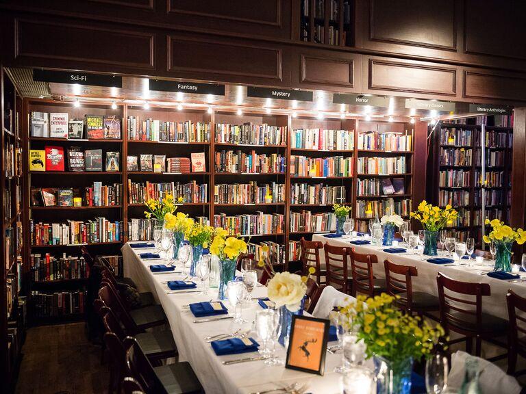 Library wedding venue in New York, New York.
