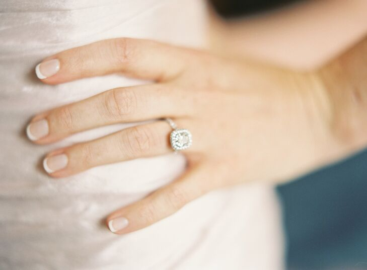Bride's Cushion-Cut Ring