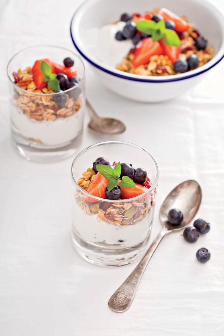 Mediterranean diet greek yogurt and fruit