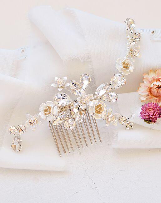 Dareth Colburn Hadley Floral Comb (TC-2425) Gold, Pink, Silver Pins, Combs + Clip
