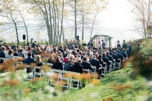 Outdoor Ceremony at Lutsen Resort on Lake Superior in Minnesota