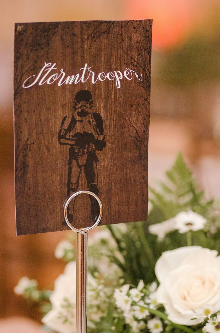 Star Wars-Themed Wooden Table Number
