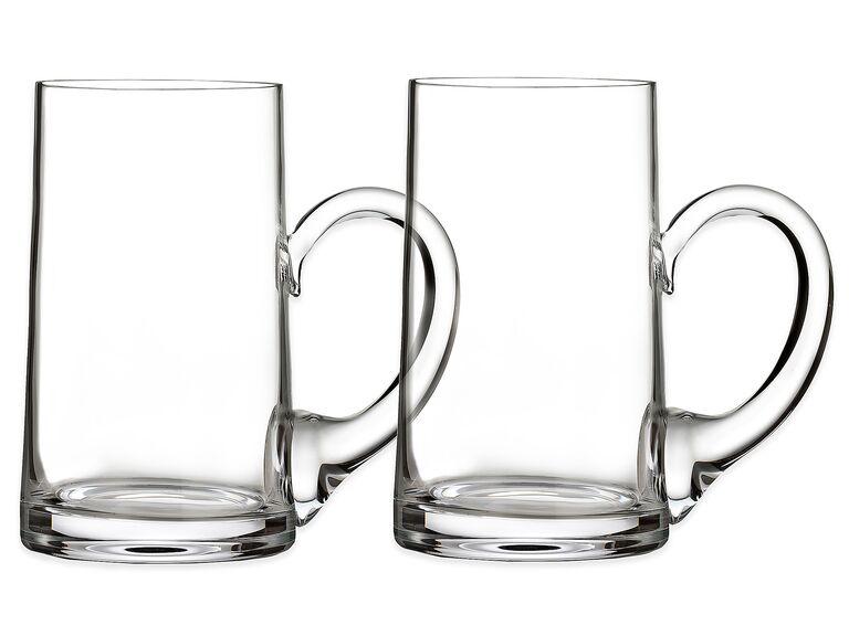 Crystal beer mug set 15-year anniversary gift