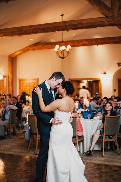 "Kelsey and Austin shared their first dance as a married couple to ""Dear True Love"" by Sleeping at Last, a song they listened to frequently throughout their relationship."