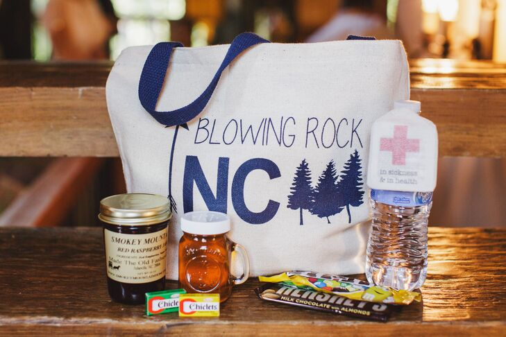 Each guest was given a welcome bag filled with Blowing Rock, North Carolina specific goodies.