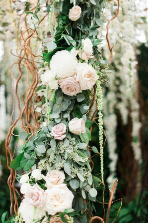 Blush Rose and Eucalyptus Wedding Arch