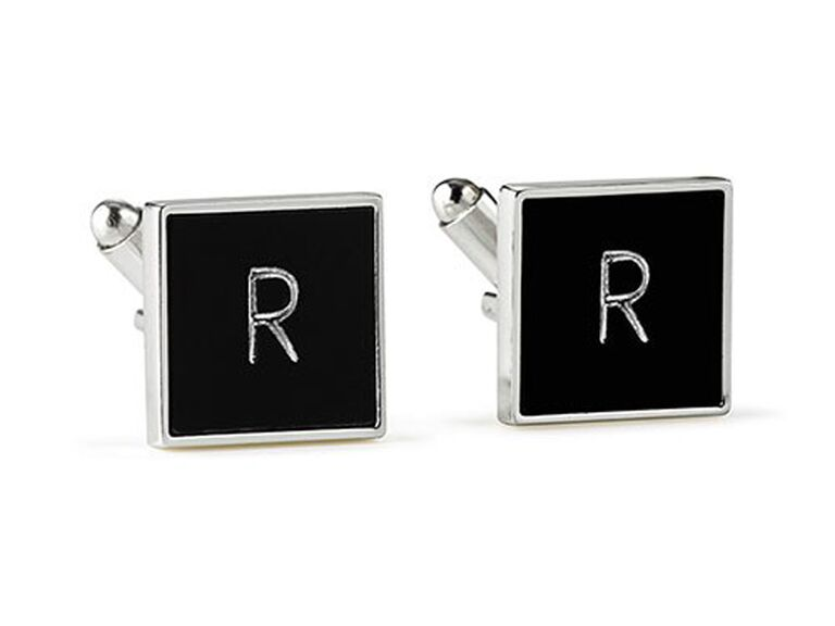 The Knot Shop black square cuff links