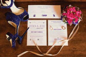 Playful Purple Wedding Stationery