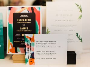 Colorful and Artsy Wedding Invitations