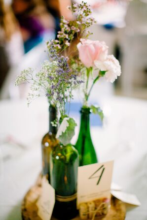 Wine Bottle Wedding Centerpieces
