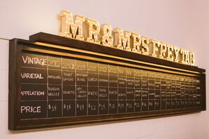 """""""Mr. & Mrs. Freytag"""" Light Up Marquee Letters"""