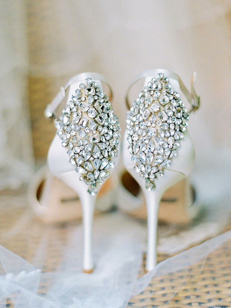Sparkly wedding shoes sparkling wedding shoes with jewels for a glitzy wedding junglespirit Choice Image