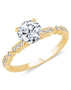 Uneek Fine Jewelry Glamorous Round Cut Engagement Ring