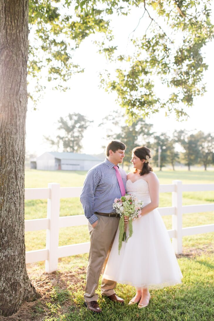 Though they only had two months to plan their wedding, Alix Hodges (22 and a recent graduate) and George Purpura (23 and works in government acquisiti