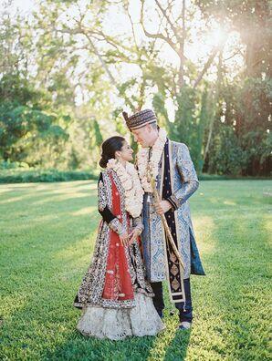 Traditional Indian Attire at Regal Miami, Florida, Wedding