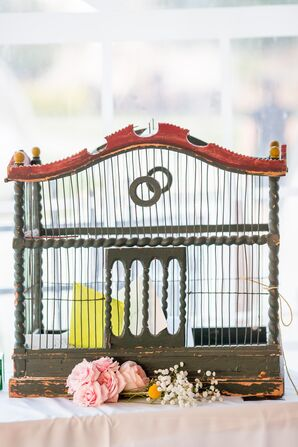 Vintage Bird Cage Card Holder