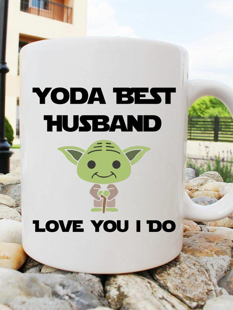 cute funny Yoda mug romantic gift for husband