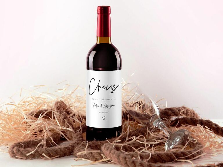 personalized label for wine bottle