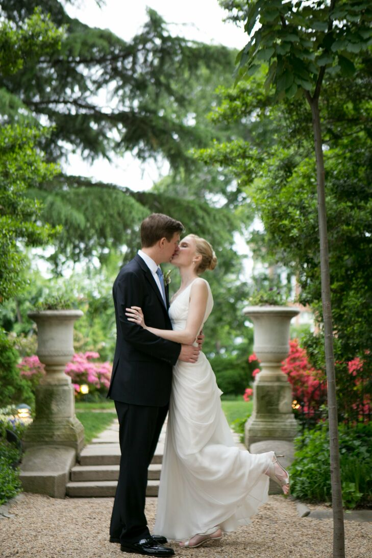 Brigid and Andy hosted a rustic yet refined estate wedding at the exquisite Meridian House in Washington, DC.  Despite inclement weather forcing a las
