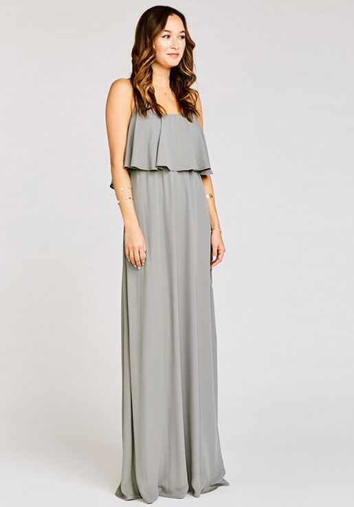 77bbbd697ebd1 Show Me Your Mumu Caitlin Ruffle Maxi Dress - Soft Charcoal Crisp Scoop  Bridesmaid Dress