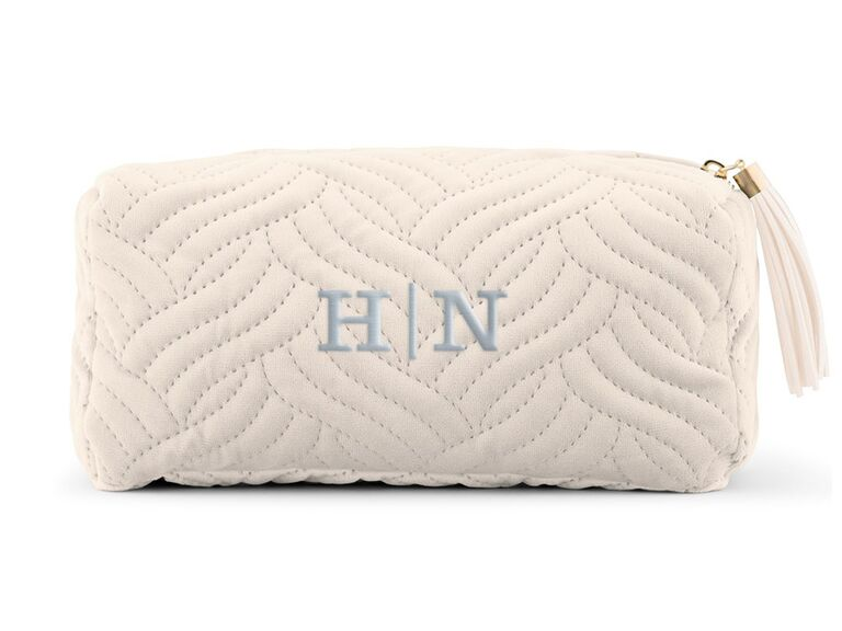 Monogram makeup bag gift for mother-in-law